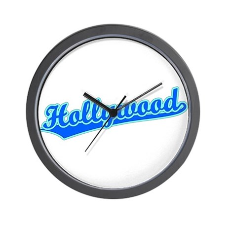 Retro Hollywood (Blue) Wall Clock