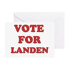 Vote for LANDEN Greeting Card
