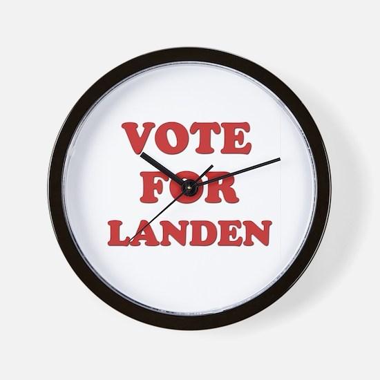 Vote for LANDEN Wall Clock