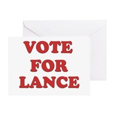 Vote for LANCE Greeting Card