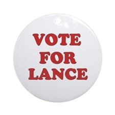 Vote for LANCE Ornament (Round)