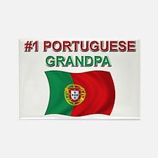 #1 Portuguese Grandpa Rectangle Magnet