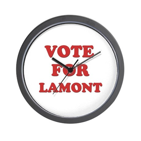 Vote for LAMONT Wall Clock