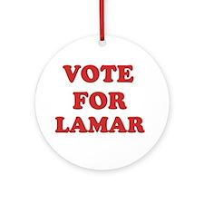Vote for LAMAR Ornament (Round)