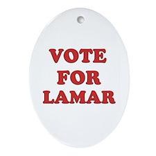 Vote for LAMAR Oval Ornament