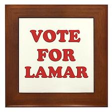 Vote for LAMAR Framed Tile