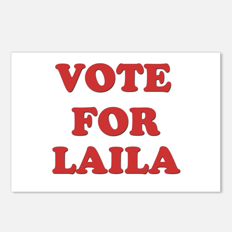 Vote for LAILA Postcards (Package of 8)
