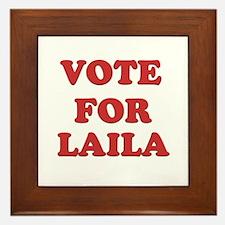 Vote for LAILA Framed Tile