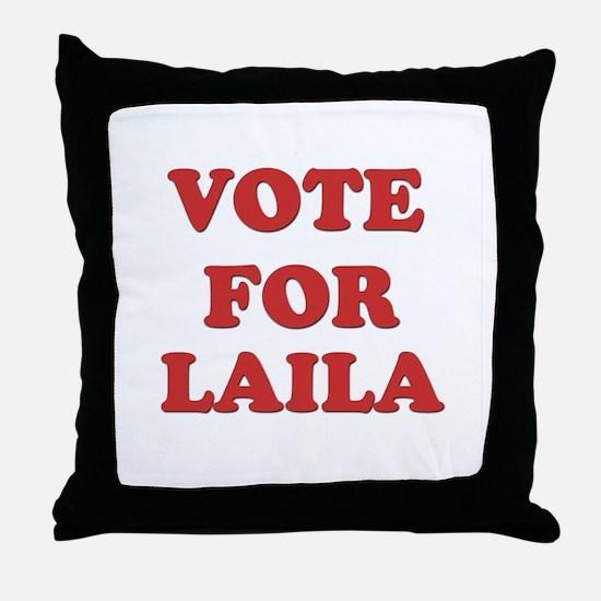 Vote for LAILA Throw Pillow