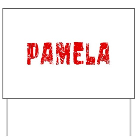 Pamela Faded (Red) Yard Sign