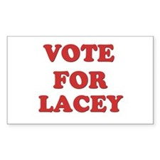 Vote for LACEY Rectangle Decal