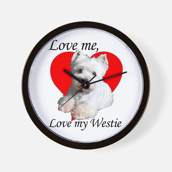 Love My Westie Wall Clock