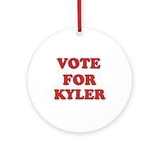 Vote for KYLER Ornament (Round)