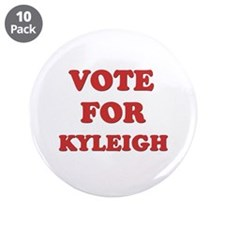 """Vote for KYLEIGH 3.5"""" Button (10 pack)"""