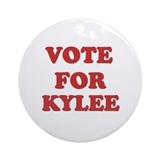 Vote for KYLEE Ornament (Round)