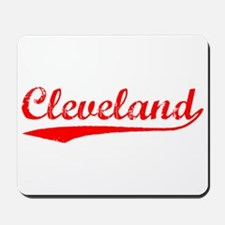Vintage Cleveland (Red) Mousepad