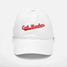 Retro Oak Harbor (Red) Baseball Baseball Cap