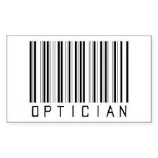 Optician Bar Code Rectangle Decal