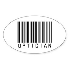 Optician Bar Code Oval Decal