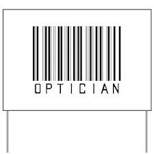 Optician Bar Code Yard Sign