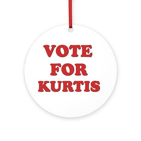 Vote for KURTIS Ornament (Round)