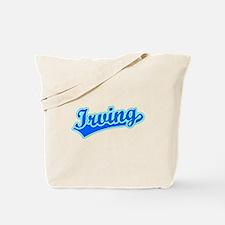 Retro Irving (Blue) Tote Bag