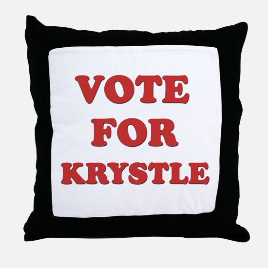 Vote for KRYSTLE Throw Pillow
