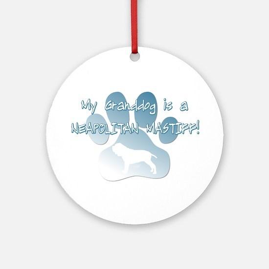 Neapolitan Mastiff Granddog Ornament (Round)