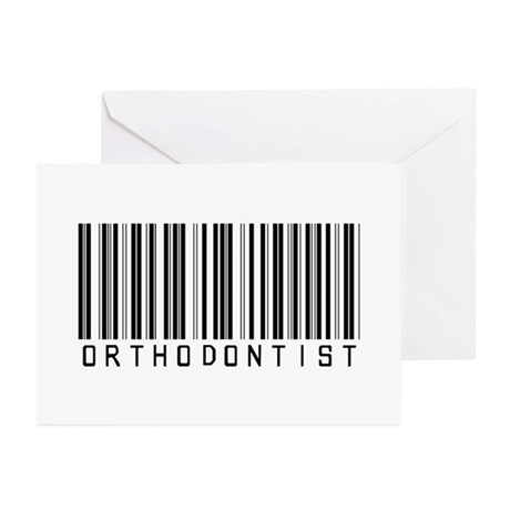 Orthodontist Barcode Greeting Cards (Pk of 10)