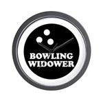 Bowling Widower Wall Clock