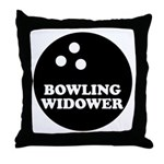 Bowling Widower Throw Pillow