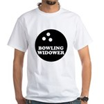 Bowling Widower White T-Shirt