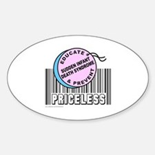 SUDDEN INFANT DEATH SYNDROME Oval Decal