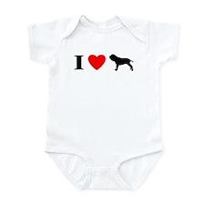 I Heart Neapolitan Mastiff Baby Bodysuit