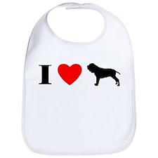 I Heart Neapolitan Mastiff Bib