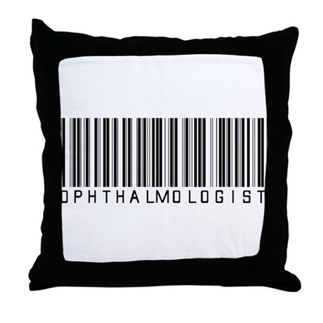 Ophthalmologist Barcode Throw Pillow