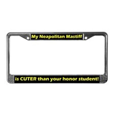 Honor Stdnt Neapolitan Mastiff License Plate Frame