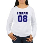 Ferrari 08 Women's Long Sleeve T-Shirt