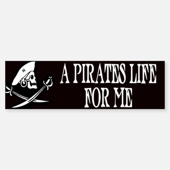A Pirate's Life For Me Bumper Car Car Sticker