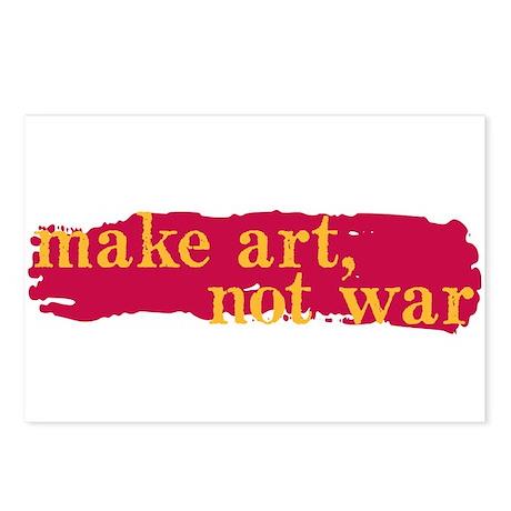 Make Art, Not War Postcards (Package of 8)
