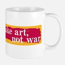 Make Art, Not War Mug