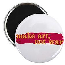 """Make Art, Not War 2.25"""" Magnet (10 pack)"""