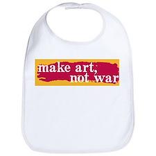 Make Art, Not War Bib