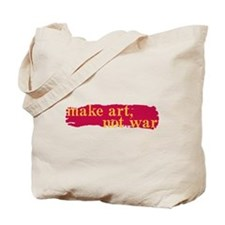Make Art, Not War Tote Bag