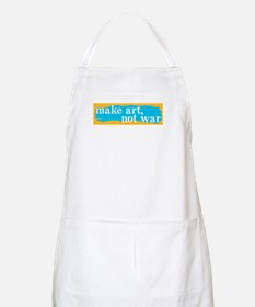Make Art, Not War BBQ Apron