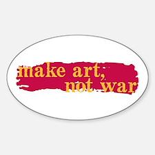Make Art, Not War Oval Decal