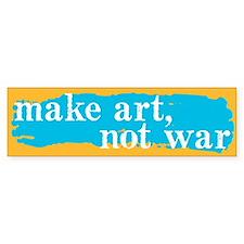 Make Art, Not War Bumper Bumper Sticker