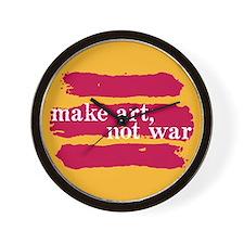 Make Art, Not War Wall Clock