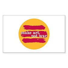 Make Art, Not War Rectangle Decal