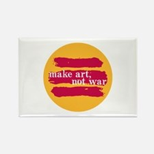 Make Art, Not War Rectangle Magnet